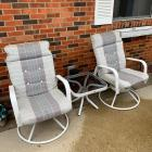2 Outdoor Chairs w/ Side Table