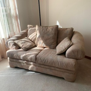 Love seat and couch (Meadowbrook Furniture Co.)