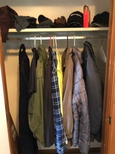 Coats in front hall closet