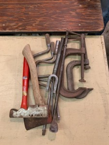 Clamps, Hand Drills, Axe