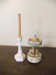 Musical Carousel & Candle Holder