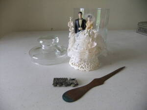 Vintage Wedding Cake Topper, Misc.