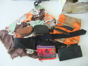 Coin Purses, Scarves, Misc.