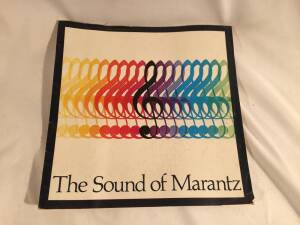 "1968 ""Sound of Marantz"". 19 page brochure with pictures of Marantz Models - 7T, 15, 10-B, 9, and SLT-12U. Good condition."