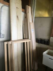 Assorted Lumber and (7) Frames