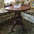 End Table, Glass Bowl