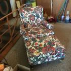 Upholstered Chair & Foot Stool